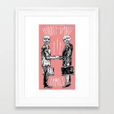 TROUBLE SHAKE Framed Art Print