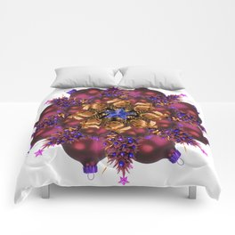 purple ornaments mandala Comforters