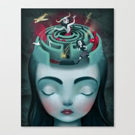 Sometimes In My Head Canvas Print
