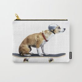 Skate Punk - Skateboarding Chihuahua Dog inTiny Helmet Carry-All Pouch