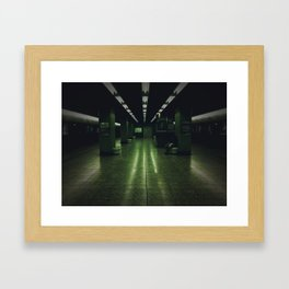 Subway in Cyan Framed Art Print