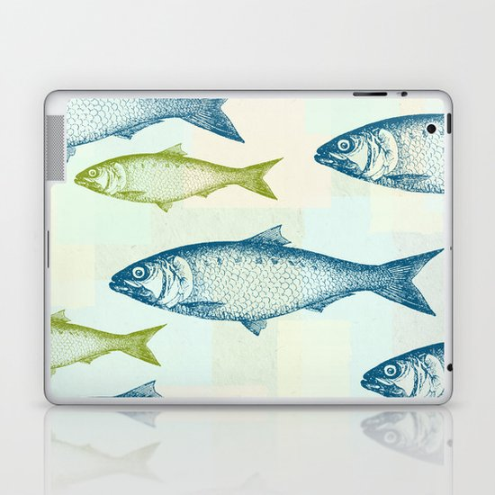 Vintage Fish Laptop & iPad Skin