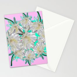 NIGHT BLOOMING TROPICAL CEREUS CACTI ART Stationery Cards