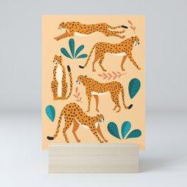 Cheetas beige 02 Mini Art Print