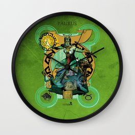 "Ars Tarot of the 12 Zodiac: ""Taurus - The Hierophant"" Wall Clock"