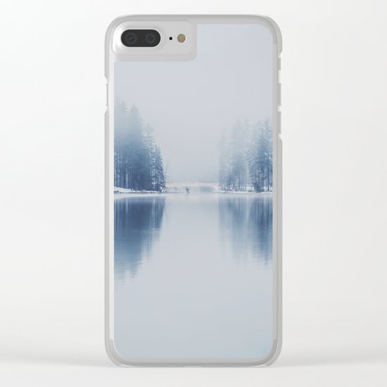 Foggy Winter Clear iPhone Case