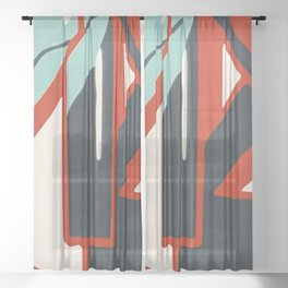 In the street No1 Sheer Curtain