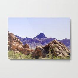 Purple Mountains Metal Print