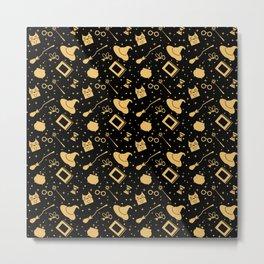 Magic symbols (black) Metal Print