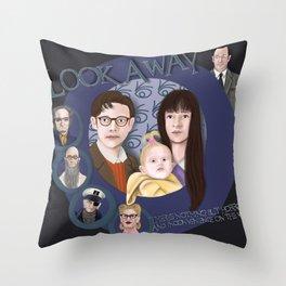 Look Away, Look Away Throw Pillow