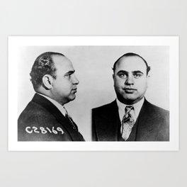 Al Capone Mugshot Art Print