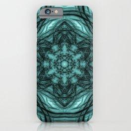 Elegant teal kaleidoscopes iPhone Case