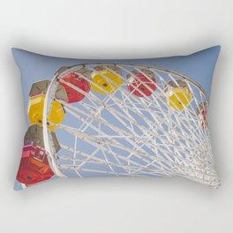 California Wheelin - Santa Monica Pier Rectangular Pillow