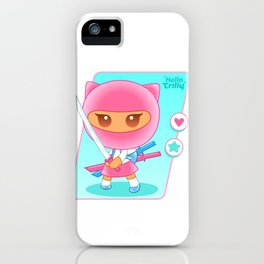 HelloTrilly - Fight for Love iPhone Case