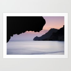 Half Moon sea.... Art Print