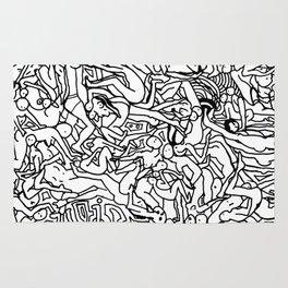 Lots of Bodies Doodle - Closeup Rug