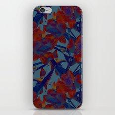 Flowers in Blue iPhone & iPod Skin