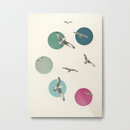 Circling Metal Print