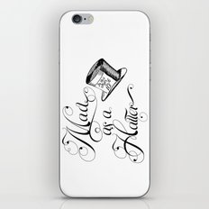 Alice in Wonderland Mad As A Hatter iPhone & iPod Skin