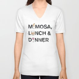 Favourite Things - Mimosa, Lunch & Dinner Unisex V-Neck