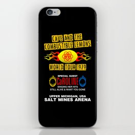 Cave & The Combustible Lemons iPhone Skin