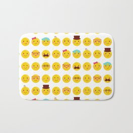 Cheeky Emoji Faces Bath Mat