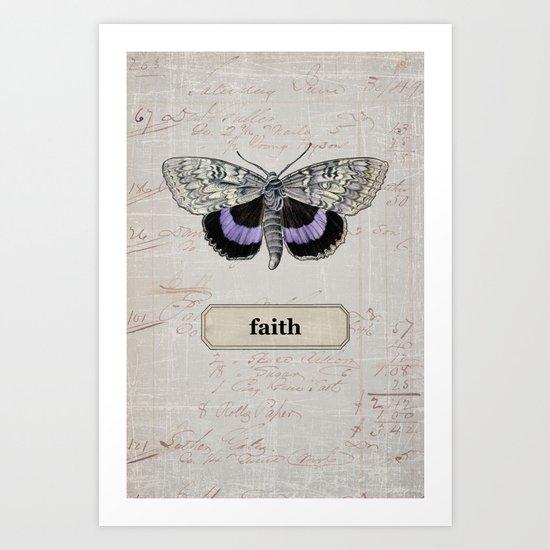 butterfly - faith Art Print