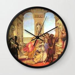 Sandro Botticelli The Calumny of Apelles Wall Clock