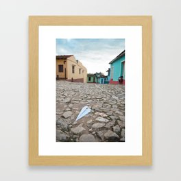 Trinidad Cuba Old City Architecture Cobblestone Streets Urban Photography Travel Island Caribbean La Framed Art Print