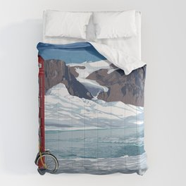 Phone booth Comforters
