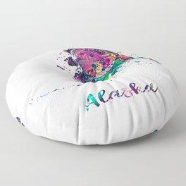 Alaska Map Floor Pillow