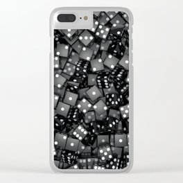 Black dice Clear iPhone Case