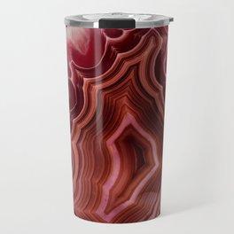 Earth teasures - Bloody red agate pattern Travel Mug
