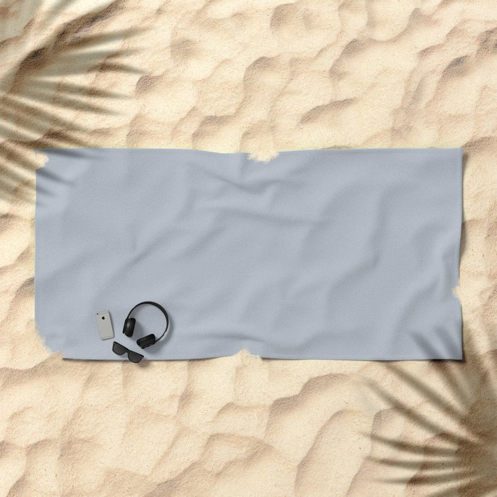 Bluebell Blue Beach Towel