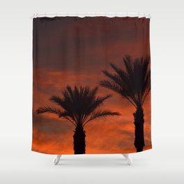 Palm Sunset - II Shower Curtain