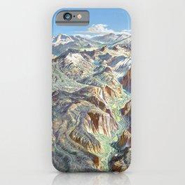 Heinrich Berann - Panoramic Painting of Yosemite National Park (1989) iPhone Case