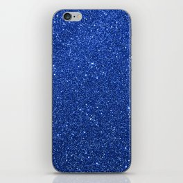 Cobalt Blue Glitter iPhone Skin