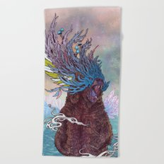 Journeying Spirit (Bear) Beach Towel