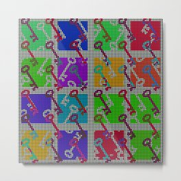 Colorful Key pattern Metal Print