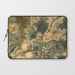 """Jan van Huysum """"Still life with flowers and fruits"""" (drawing) Laptop Sleeve"""