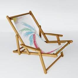 """""""Island Palm"""" Mixed Media Sketch Sling Chair"""