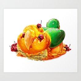 Caique Cake Art Print