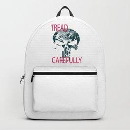Tread Carefully Skull Backpack