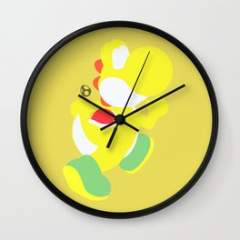 Yoshi(Smash)Yellow Wall Clock