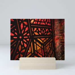 Abstract Red Light Exhibit Mini Art Print