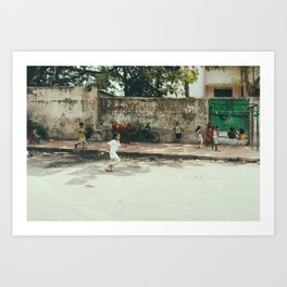 Kids in India Art Print