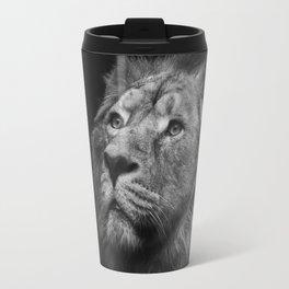 Black & White Lion Travel Mug