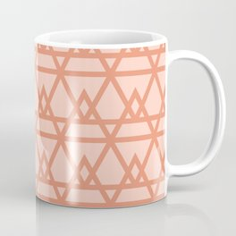 Pyramidal - Geometric Minimalist Pattern in Peachy Pink Coffee Mug