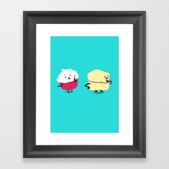 Red PERVERT Cupcake Framed Art Print