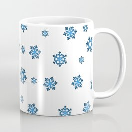 Snowflakes (Blue & Black on White) Coffee Mug
